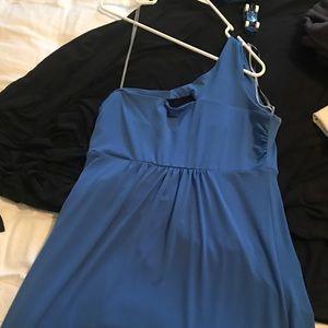 Blue 1 shoulder dress